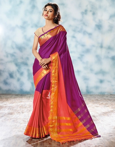 Farica Designer Cotton Saree