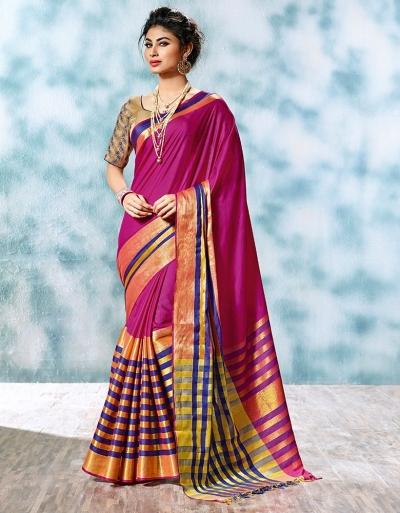 Atisha Designer Wear Cotton Saree