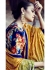 Peach Colored Embroidered Net Lehenga Choli 88014