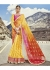 Yellow Colored Printed Georgette Chiffon Saree 2003