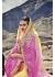 Multi Colored Printed Georgette Chiffon Saree 2011