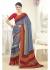 Multi Colored Printed Faux Georgette Saree 61006