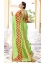Green Colored Embroidered Faux Georgette Festive Saree 96054