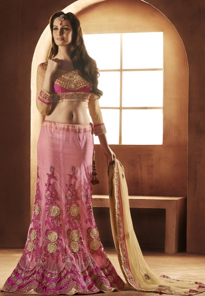 Exotic Rose Pink Lehenga Choli