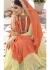 Orange Colored Embroidered Faux Georgette Net Festive Saree 96057