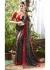 Black Colored Printed Faux Georgette Saree 31016
