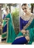 Green Colored Embroidered Satin Georgette Wedding Saree 87057