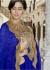 Blue Colored Border Worked Chiffon Festive Saree 97051