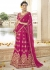 Magenta Colored Embroidered Art Silk Bridal Lehenga Choli 1301