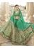 Green Colored Embroidered Art Silk Wedding Lehenga Choli 1302