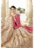 Beige Colored Embroidered Art Silk Wedding Lehenga Choli 1306