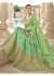 Green Colored Embroidered Art Silk Wedding Lehenga Choli 1307