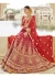 Red Art Silk Traditional Embroidered Lehenga Choli 1309