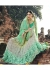 Green Colored Border Worked Crape Net Wedding Saree 1034