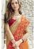Orange Colored Border Worked Faux Georgette Festive Saree 96075