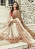 Off-White Colored Border Worked Faux Georgette Festive Saree 96076