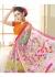 Multi Colored Printed Faux Georgette Saree 75046