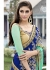 Blue Colored Embroidered Faux Georgette Festive Saree 87085