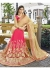 Pink Colored Embroidered Faux Georgette Net Festive Saree 87086