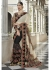Black Colored Embroidered Net Shimmer Georgette Partywear Saree 1046