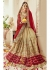 Beige Faux Georgette Embroidered Bridal Saree 1106