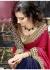 Blue Colored Embroidered Chiffon Art Silk Wedding Saree 1025