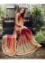 Red Colored Embroidered Chiffon Net Partywear Saree 1027