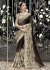 Black Colored Embroidered Chiffon Net Partywear Saree 1028