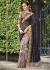 Grey Satin Traditional Embroidered Saree 1031