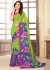 Green Colored Printed Faux Georgette Saree 89002