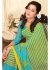 Green Colored Printed Faux Georgette Saree 89005