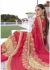 Pink Colored Embroidered Georgette Chiffon Net Festive Saree 1403