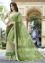 Green Colored Embroidered Georgette Lycra Net Festive Saree 97062