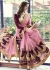 Pink Colored Embroidered Faux Georgette Partywear Saree 1504