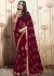 Red Colored Printed Faux Georgette Saree 31025
