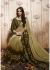 Beige Colored Printed Faux Georgette Saree 31029