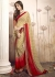 Beige Colored Printed Faux Georgette Saree 31035