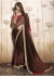 Brown Colored Printed Faux Georgette Saree 31036