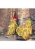 Yellow Colored Printed Faux Georgette Saree 2005