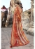 Multi Colored Printed Faux Georgette Saree 2011