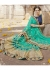 Green Colored Embroidered Faux Georgette Festive Saree 87090