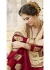 Maroon Colored Embroidered Faux Georgette Festive Saree 87091