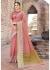 Peach Colored Woven Art Silk Festive Saree 5201
