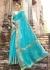 SkyBlue Colored Woven Art Silk Festive Saree 5202