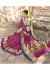 Magenta Colored Woven Blended Cotton Officewear Saree 5206