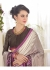 Grey Faux Georgette Traditional Printed Saree 1007