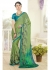 Green Colored Printed Faux Georgette Saree 61010