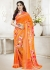 Orange Colored Printed Faux Georgette Saree 102
