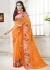 Orange Colored Printed Faux Georgette Saree 104