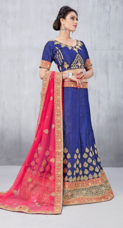 Party Wear Blue Lehenga 135